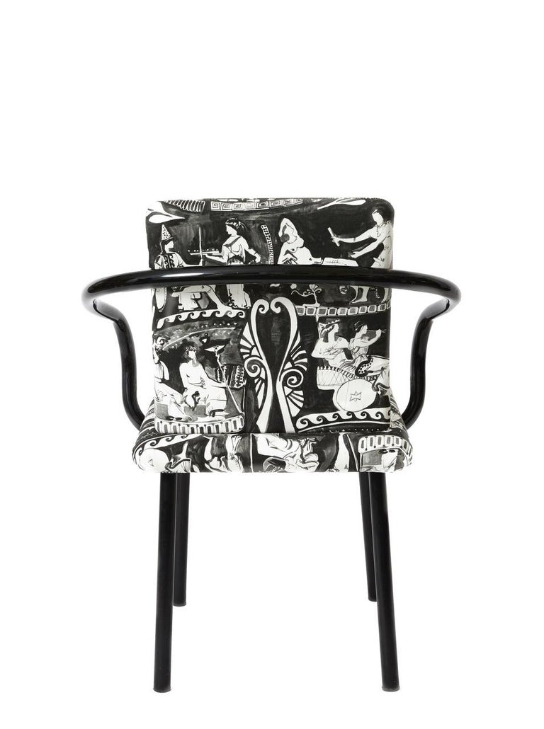 Set of Four Black Ettore Sottsass Mandarin Chairs by Knoll In Good Condition For Sale In Hudson, NY