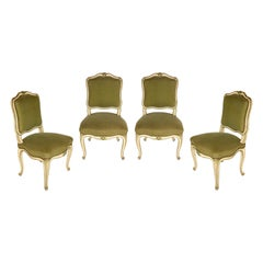 Set of Four French Louis XV Style Side Chairs, circa 1940