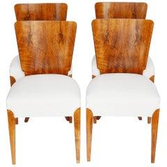 Set of Four Original Dining Chairs by Jindřich Halabala, circa 1950