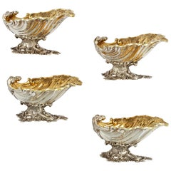 Set of Four Victorian Silver Salt Cellars