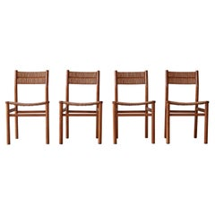 Set of Four Weekend Dining Chairs by Pierre Gautier-Delaye, France, 1950s