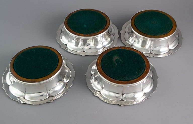 Set of Four William IV Silver Wine Coasters Sheffield, 1830 For Sale 4