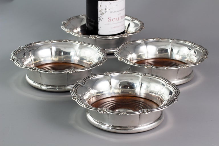 Set of Four William IV Silver Wine Coasters Sheffield, 1830 For Sale 2