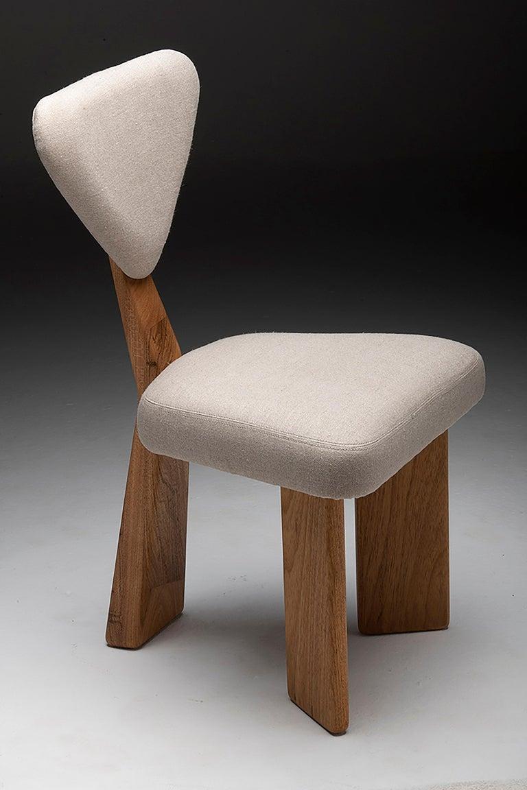 A set of Giraffe Chair in Solid Brazilian Walnut Wood by Juliana Vasconcellos 12
