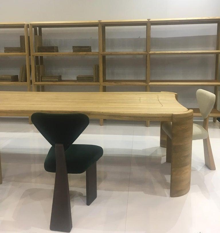 A set of Giraffe Chair in Solid Brazilian Walnut Wood by Juliana Vasconcellos 3