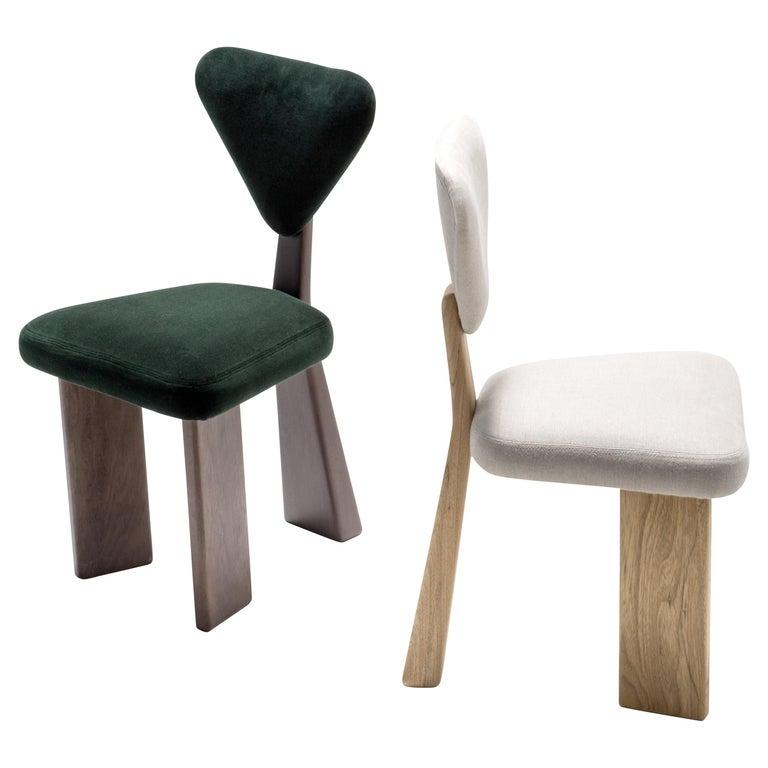 A set of Giraffe Chair in Solid Brazilian Walnut Wood by Juliana Vasconcellos