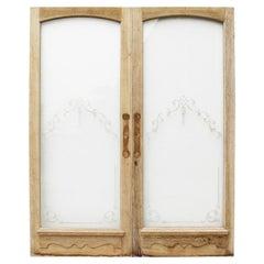 Set of Glazed Antique Oak Doors