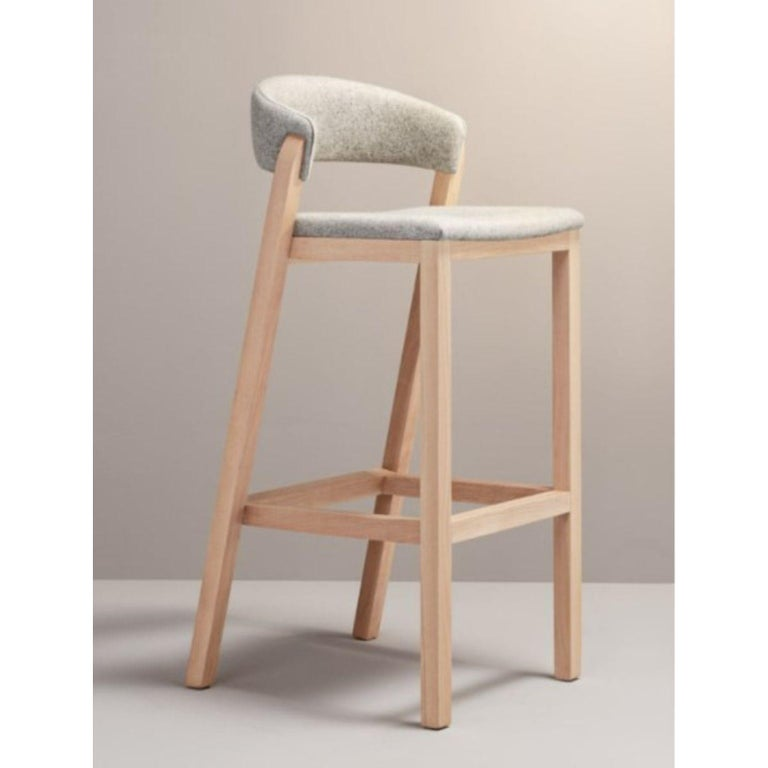 Spanish Set of Gray Oslo Stool & Chair by Pepe Albargues For Sale