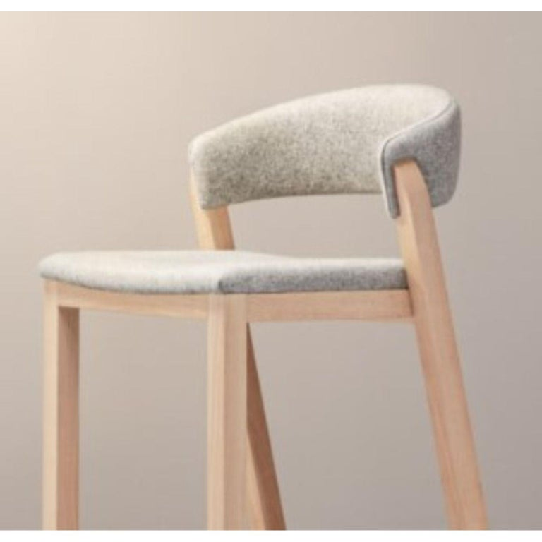 Contemporary Set of Gray Oslo Stool & Chair by Pepe Albargues For Sale