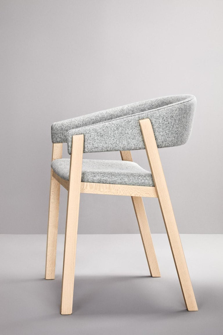 Foam Set of Gray Oslo Stool & Chair by Pepe Albargues For Sale
