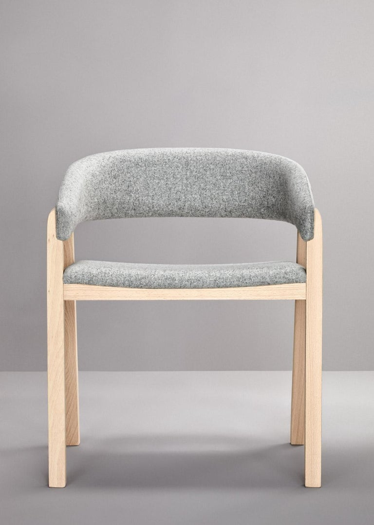 Set of Gray Oslo Stool & Chair by Pepe Albargues For Sale 1