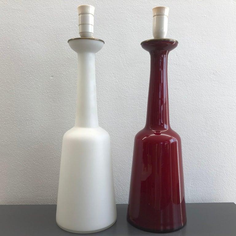 Modern Set of Lamps by Bent Nordsted for Holmegaard For Sale