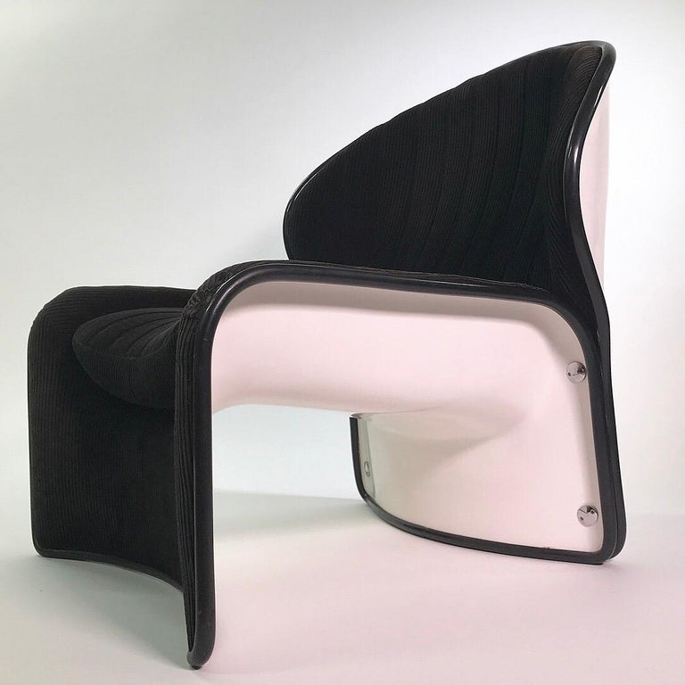 Swiss Set of Lotus Lounge Chairs by André Vandenbeuck for Strässle, Switzerland, 1969 For Sale