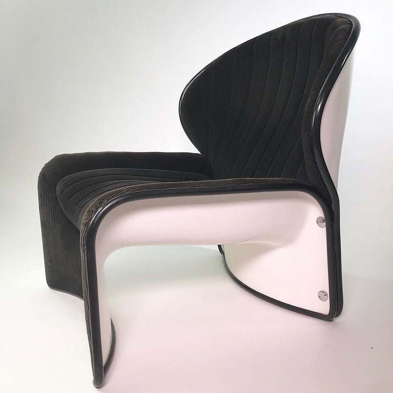 Set of Lotus Lounge Chairs by André Vandenbeuck for Strässle, Switzerland, 1969 In Good Condition For Sale In Haderslev, DK