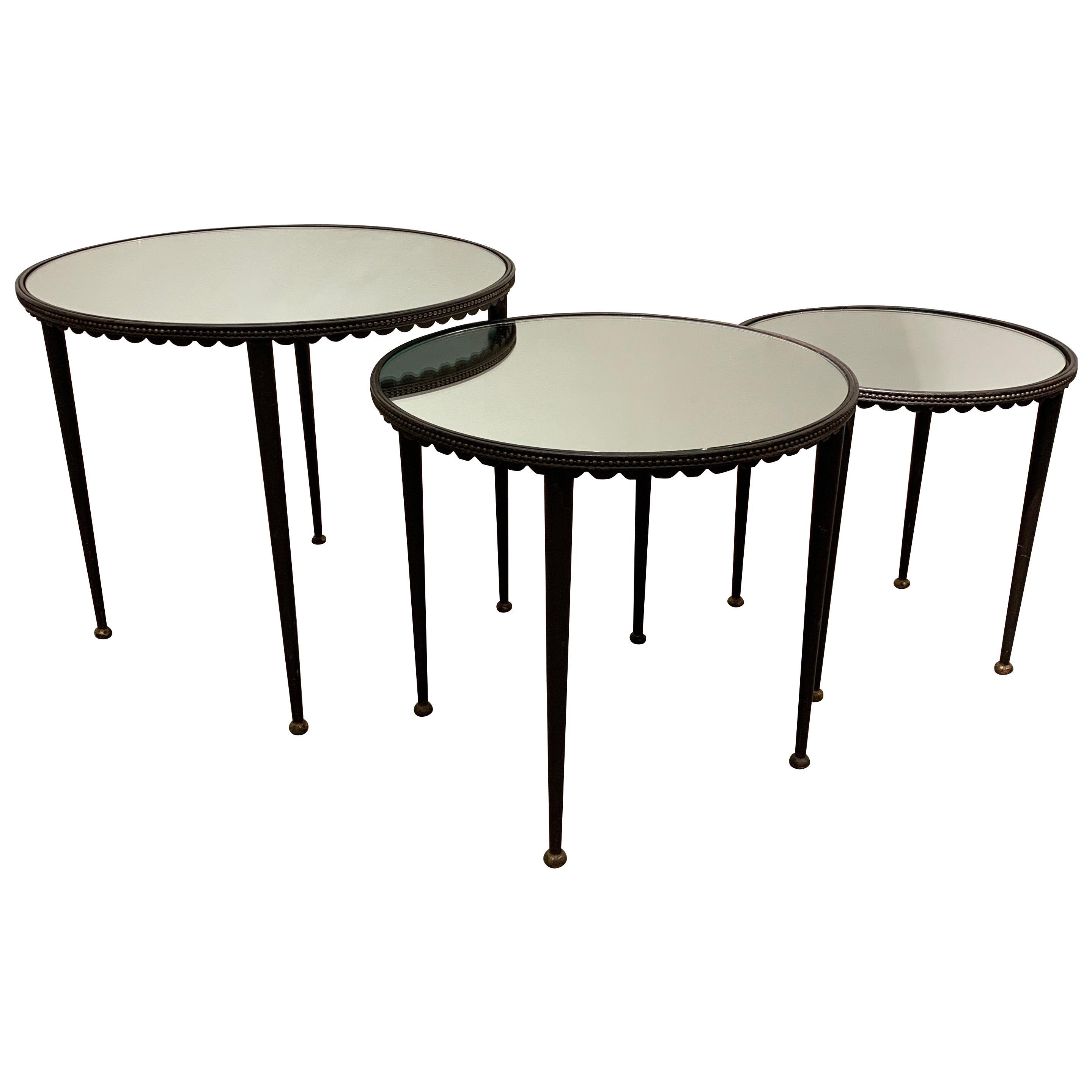 Set of Nesting Tables Attributed to Maison Jansen, 1960s