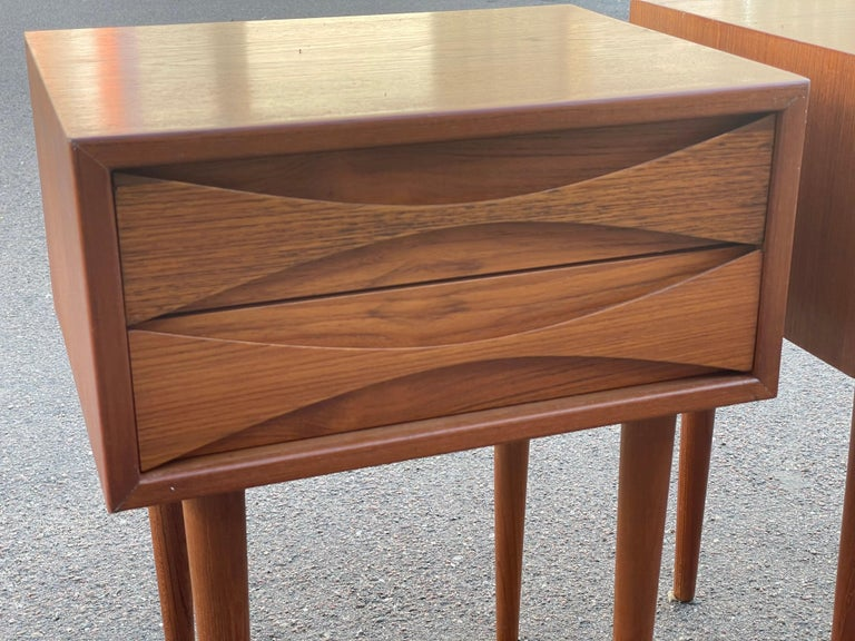 Mid-20th Century Set of Night Stands Designed by Niels Clausen for N.C. Möbler Odense, Denmark