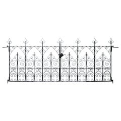 Set of Reclaimed Wrought Iron Driveway Gates