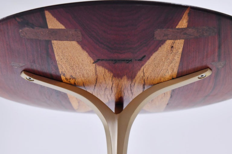 Set of Round Occasional Table, Reclaimed Hardwood and Brass, by P. Tendercool In New Condition For Sale In Bangkok, TH