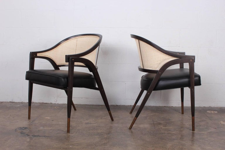 Set of Six a Frame Armchairs by Edward Wormley for Dunbar In Excellent Condition For Sale In Dallas, TX
