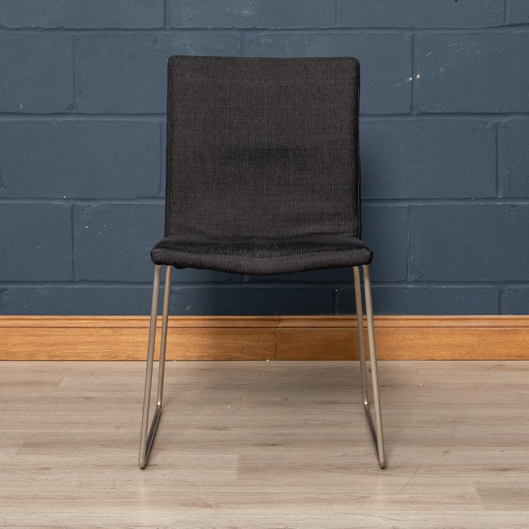 Metal Set of Six BoConcept Dining Chairs, Denmark, circa 2000 For Sale