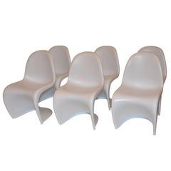 Set of Six Chairs in the Style of the Verner Panton S Chair