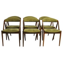Set of Six Dining Chairs, Model 31, Designed by Kai Kristiansen, 1960s