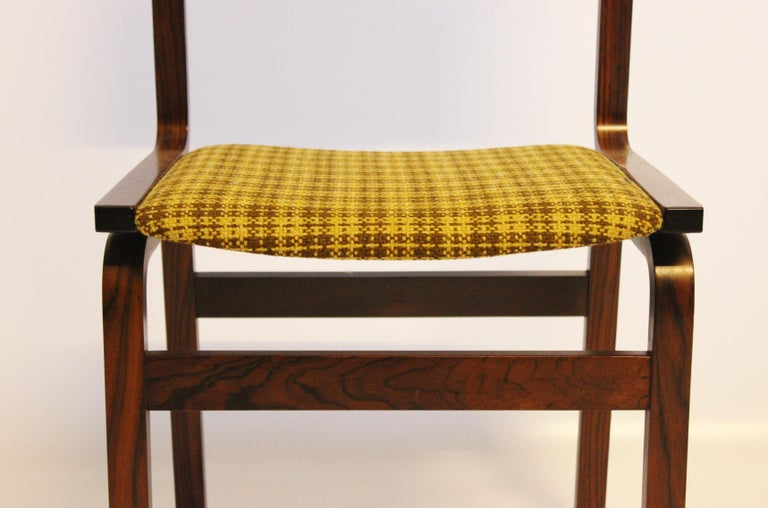 Mid-20th Century Set of Six Dining Room Chairs in Rosewood, Danish Design, 1960s For Sale