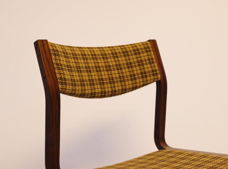 Set of Six Dining Room Chairs in Rosewood, Danish Design, 1960s For Sale 1