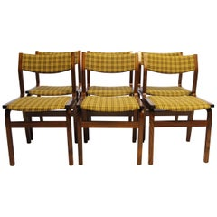 Set of Six Dining Room Chairs in Rosewood, Danish Design, 1960s