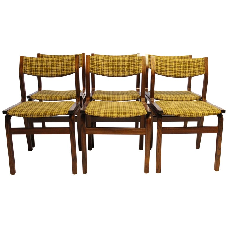 Set of Six Dining Room Chairs in Rosewood, Danish Design, 1960s For Sale