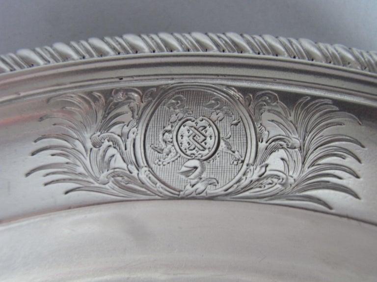 English Set of Six George III Soup Plates, London, 1811, William & John Frisbee For Sale