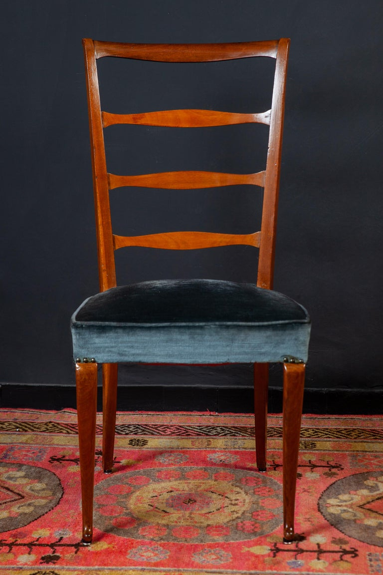 20th Century Set of Six Italian Midcentury Dining Chairs by Paolo Buffa, 1950 For Sale