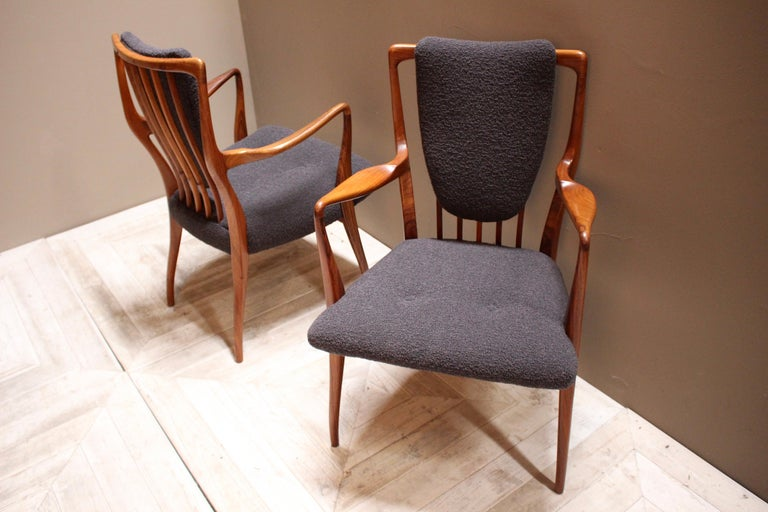 Set of Six Midcentury Dining Chairs by Andrew J Milne, for Heals London For Sale 3