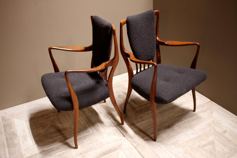 Set of Six Midcentury Dining Chairs by Andrew J Milne, for Heals London For Sale 4