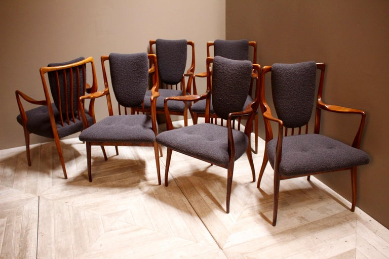 Set of Six Midcentury Dining Chairs by Andrew J Milne, for Heals London For Sale 8