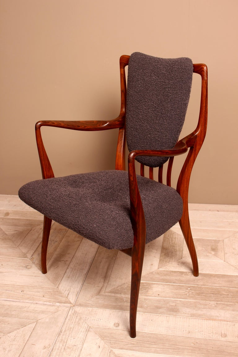Mid-Century Modern Set of Six Midcentury Dining Chairs by Andrew J Milne, for Heals London For Sale