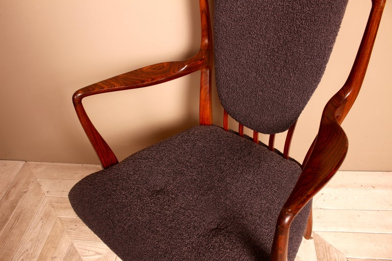 English Set of Six Midcentury Dining Chairs by Andrew J Milne, for Heals London For Sale