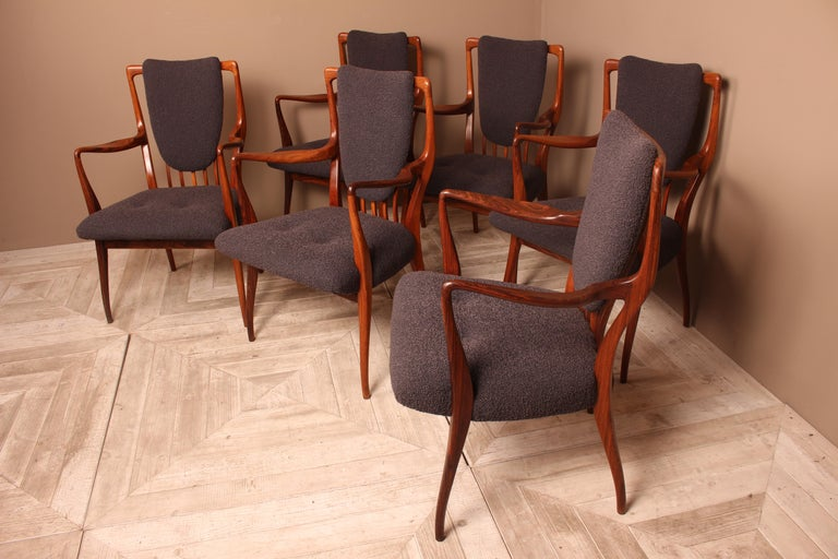 Set of Six Midcentury Dining Chairs by Andrew J Milne, for Heals London In Good Condition For Sale In Heathfield, East Sussex