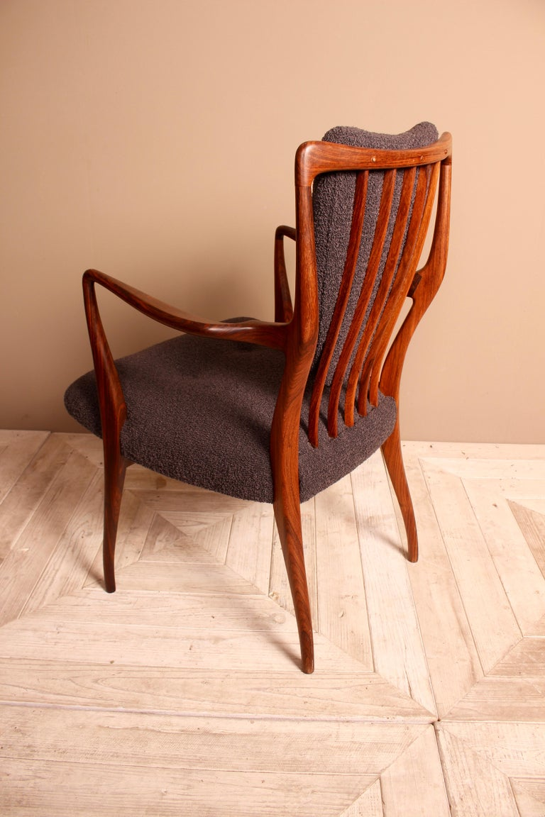 20th Century Set of Six Midcentury Dining Chairs by Andrew J Milne, for Heals London For Sale