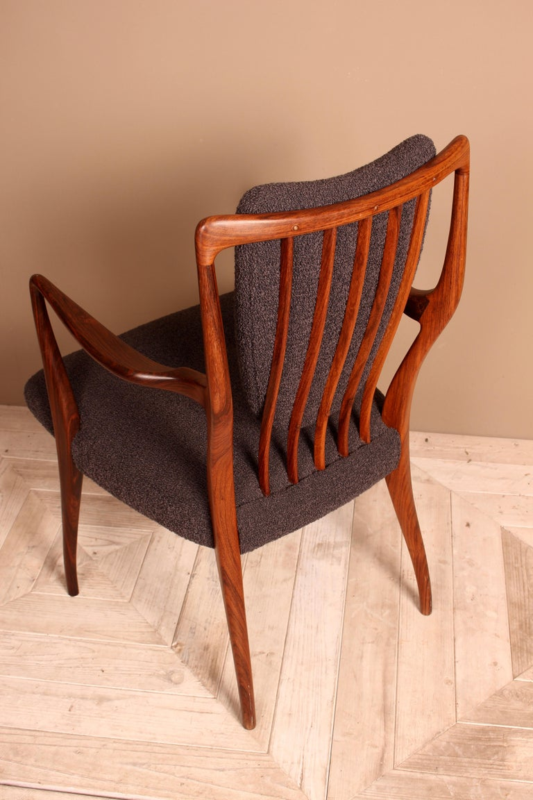 Set of Six Midcentury Dining Chairs by Andrew J Milne, for Heals London For Sale 1