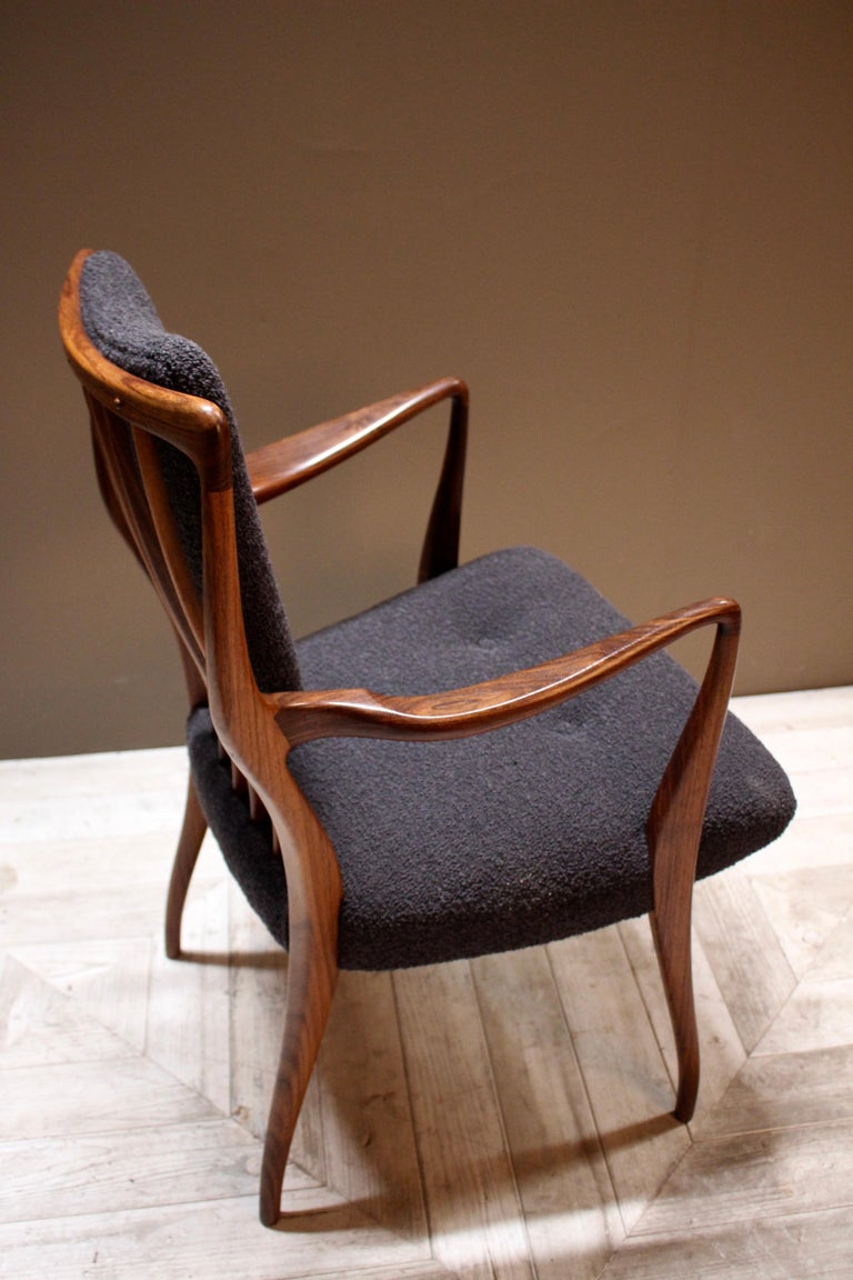 Set of Six Midcentury Dining Chairs by Andrew J Milne, for Heals London For Sale 2