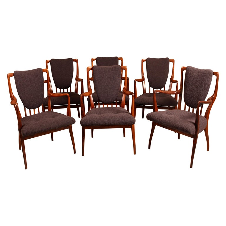 Set of Six Midcentury Dining Chairs by Andrew J Milne, for Heals London For Sale