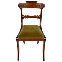 Set of Six Regency Mahogany Dining Chairs