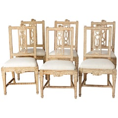 "Set of Six Swedish Lindome ""Gunnebo"" Dining Chairs, circa 1790"