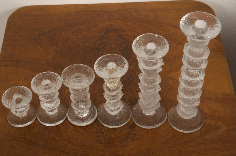 Set of Six Timo Sarpaneva Festivo Candlesticks for Iittala In Good Condition For Sale In Vienna, AT