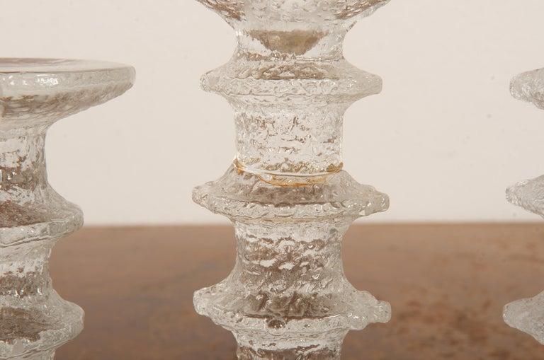 Art Glass Set of Six Timo Sarpaneva Festivo Candlesticks for Iittala For Sale