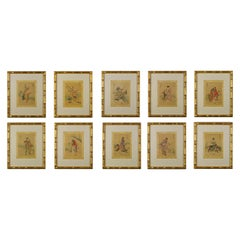 Set of Ten Watercolours of the Chinese Immortals