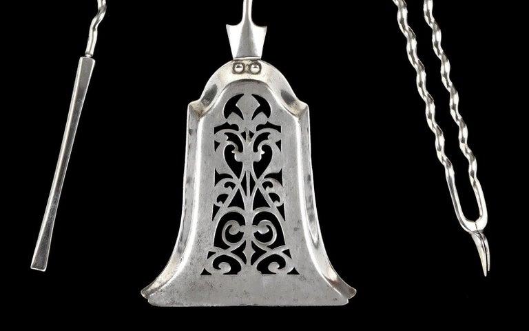 Georgian Set of Three 19th Century Fire Irons For Sale