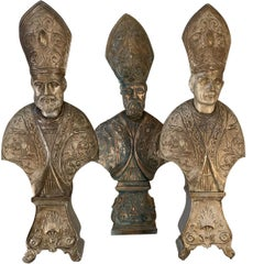 Set of Three Busts of Bishops