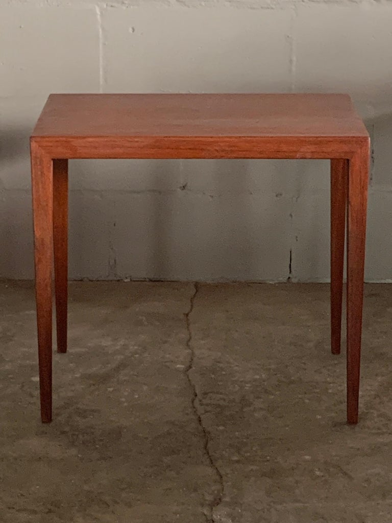Mid-20th Century Set of Three Nesting Tables by Severin Hansen for Haslev, Denmark For Sale